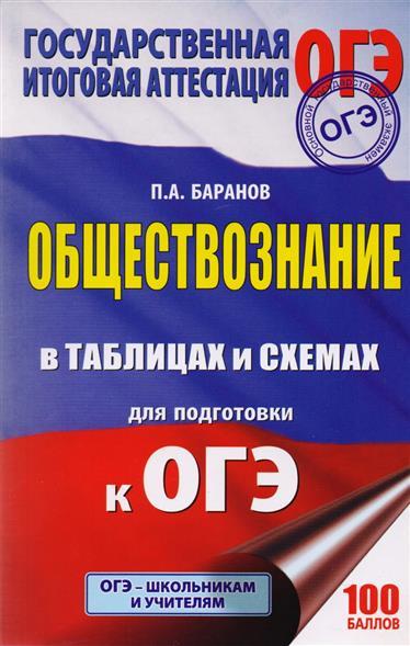 Баранов П. ОГЭ. Обществознание в таблицах и схемах. 5-9 классы