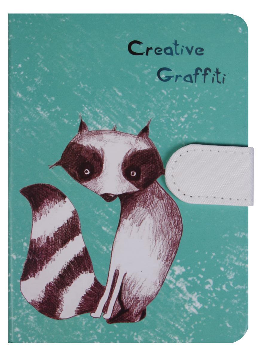 Блокнот Creative Graffiti с застежкой (288стр) (10,5х14,5)