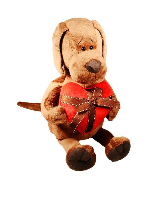 Мягкая игрушка Пёс Барбоська с сердцем (30 см) (OS076/30)