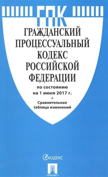 Гражданский процессуальный кодекс Российской Федерации (по сост. на 01.06.2017) + Сравнительная таблица изменений