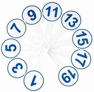 Веер-касса цифр