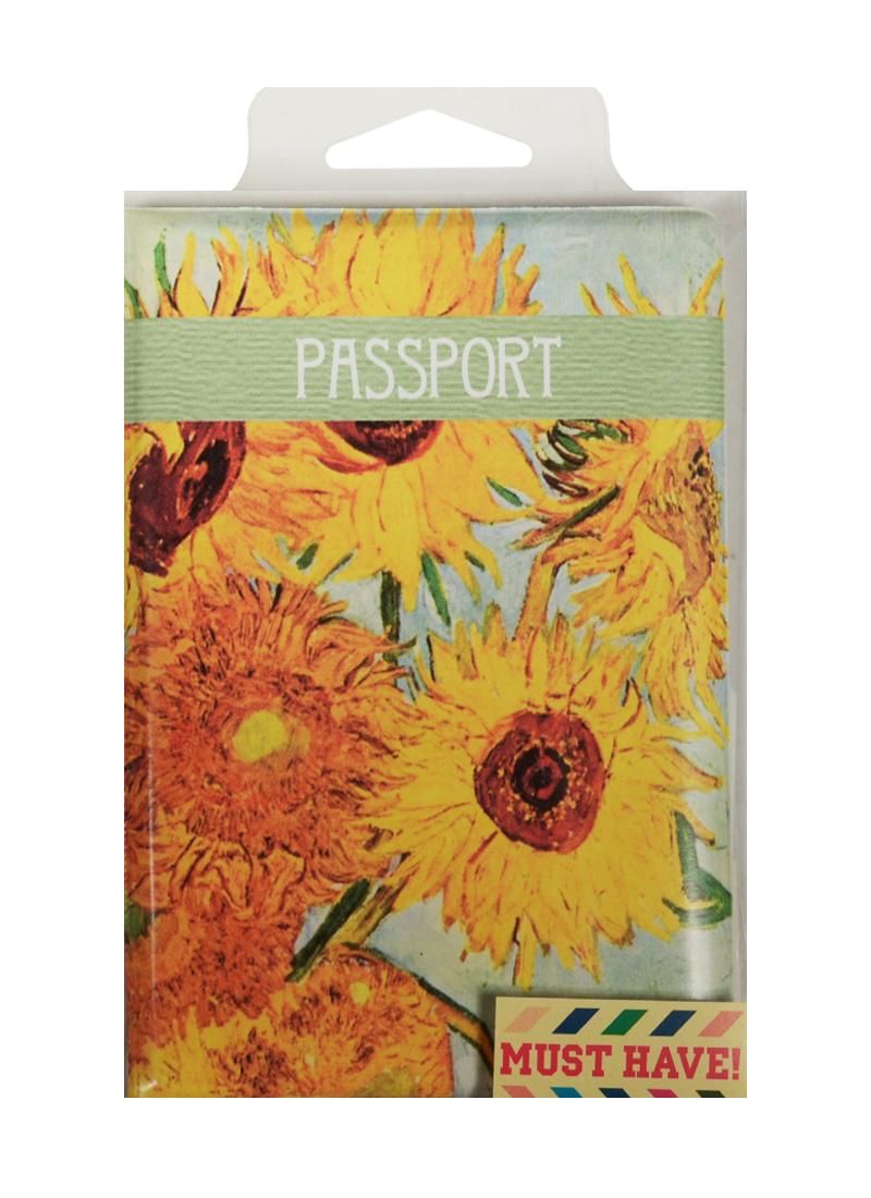 """Обложка для паспорта Винсент Ван Гог """"Подсолнухи"""" (ПВХ бокс)"""