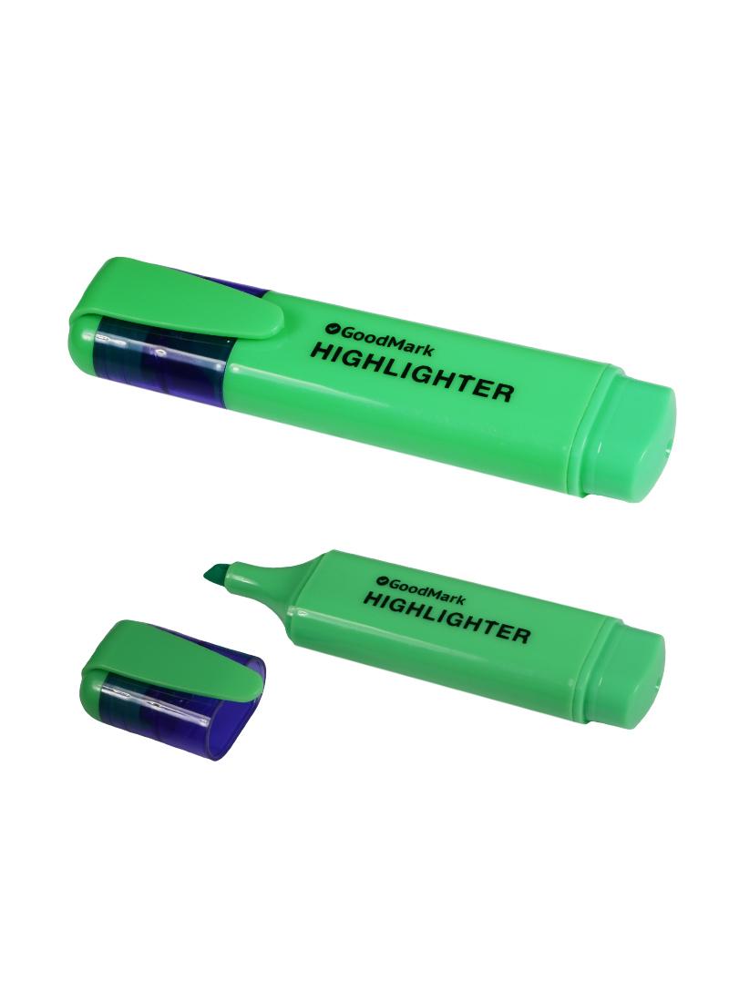 Текстовыделитель зеленый 1-5мм, флюорисцентный