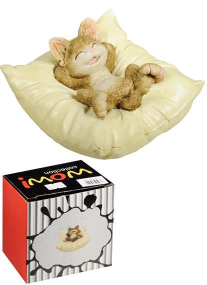 Фигурка Котик на подушке (10х10х6)