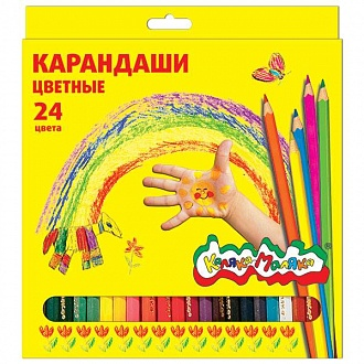 "Карандаши цветные ""Каляка-Маляка"", 24 цв"