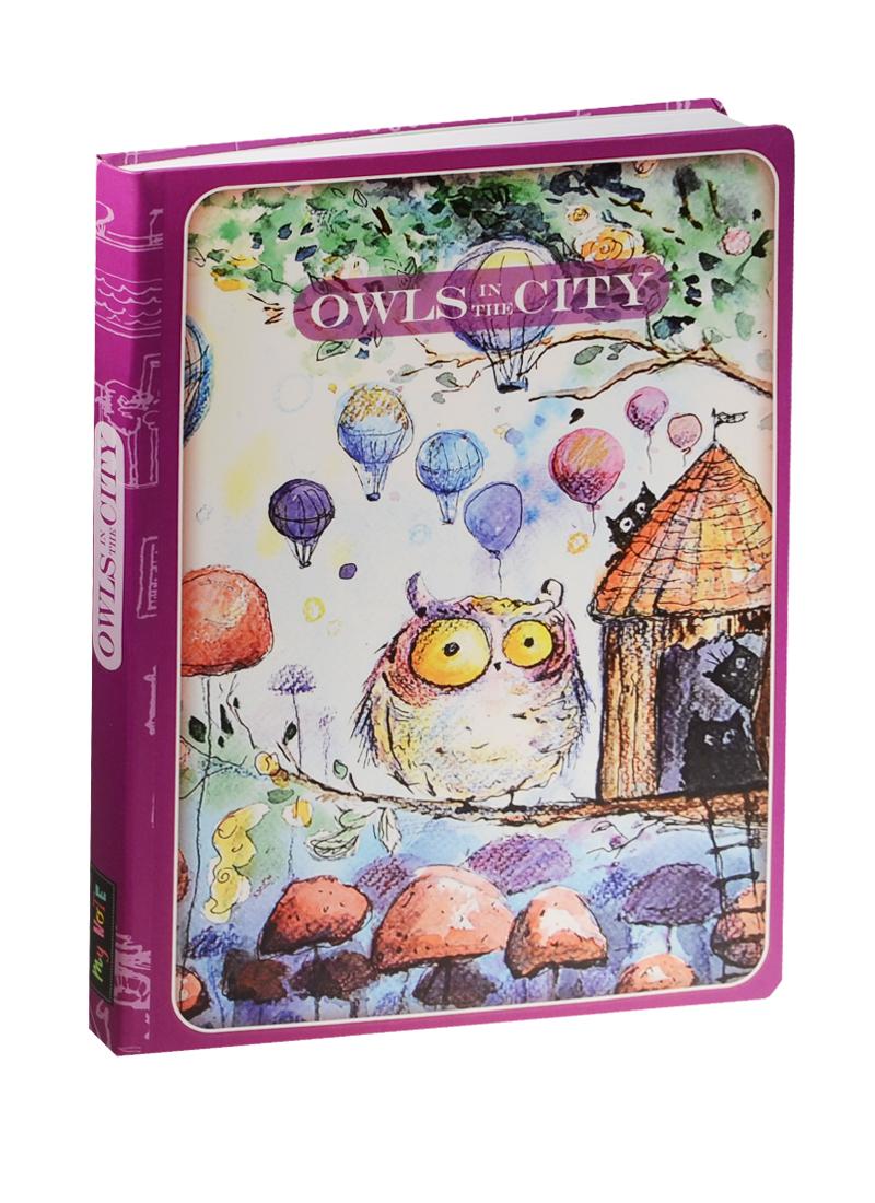 Блокнот Owls in The City Сова и шарики