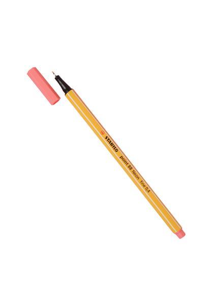 """Ручка капиллярная красная неон """"Рoint"""" 0,4мм, STABILO"""