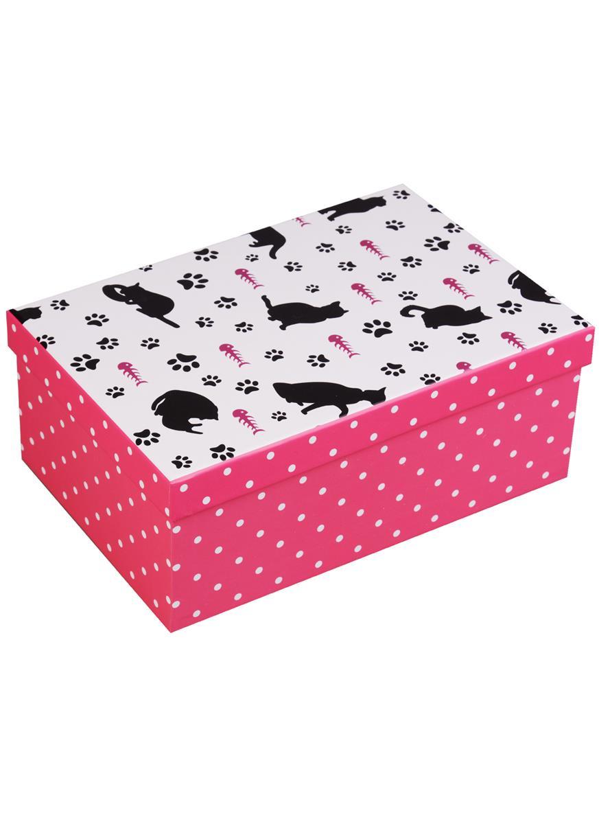 """Коробка подарочная """"Кошки и горошки"""""""