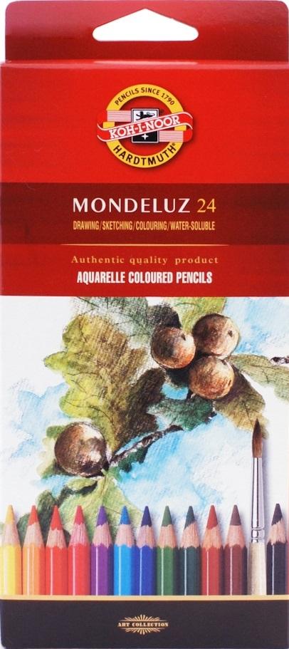 Карандаши акварельные Mondeluz, 24 цв., Koh-i-Noor