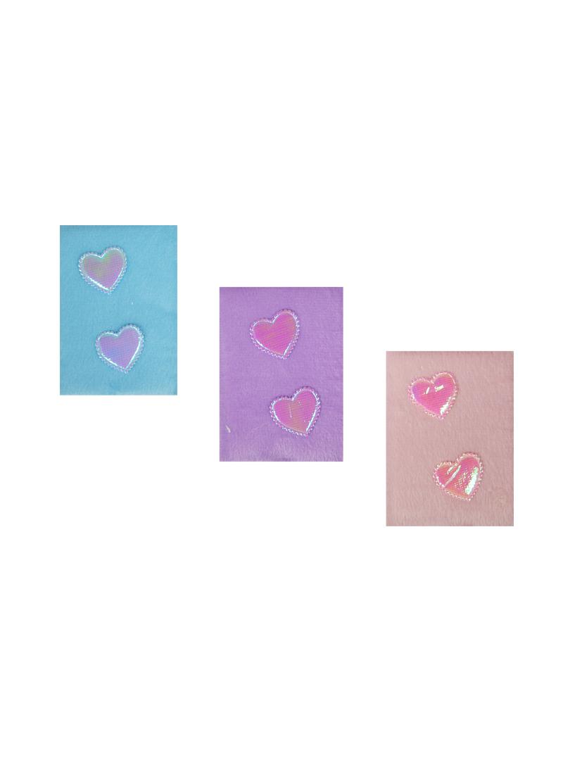 Блокнот Сердца с меховой обложкой в ассортименте (54 листа) (10,5х8) (22491B-5)