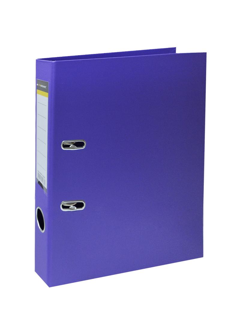 Папка архивная 55мм А4 фиолетовая,PVC,прозр.карман,металл.уголки, inФОРМАТ