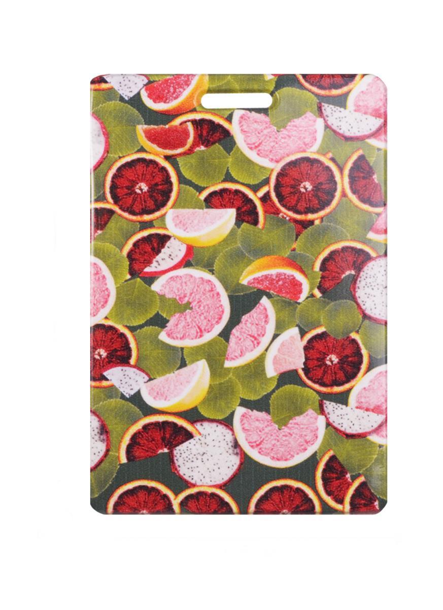 Чехол для карточек Экзотические фрукты с листьями