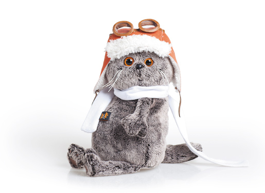 Мягкая игрушка Басик в шлеме и шарфе (19 см) (Ks19-009) (Буди Баса)