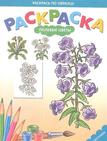 Раскраска для малышей. Полевые цветы