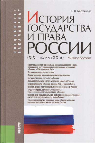 История государства и права России (XIX-начало XXI в.)
