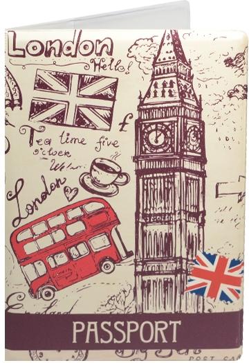 """Обложка для паспорта """"London: Рисунок"""""""