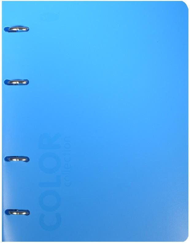 """Тетрадь 120л кл. """"NEON BLUE"""" на кольцах, смен.блок., разделители, пластик.обл., ярко-голубая, 83329, stila"""
