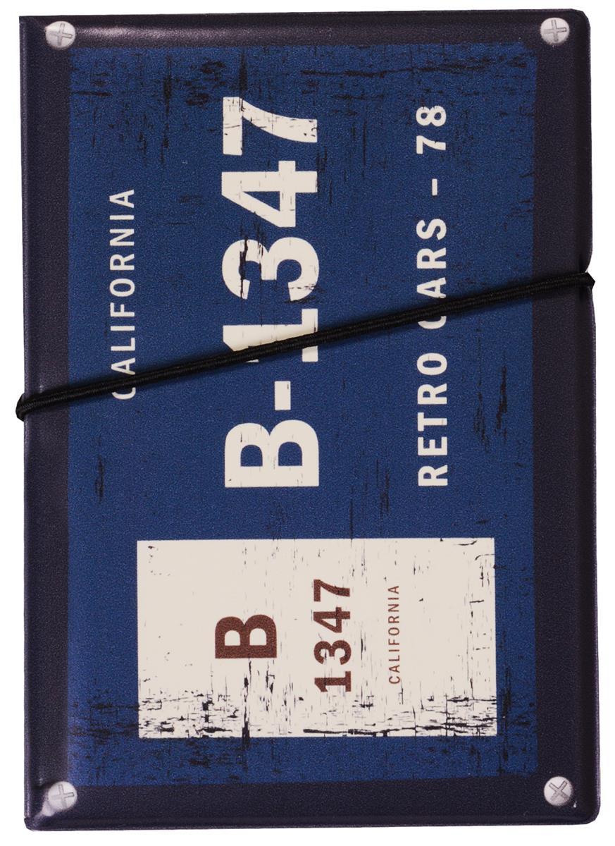 """Автодокументы """"Номерной знак: B-1347"""", синий"""