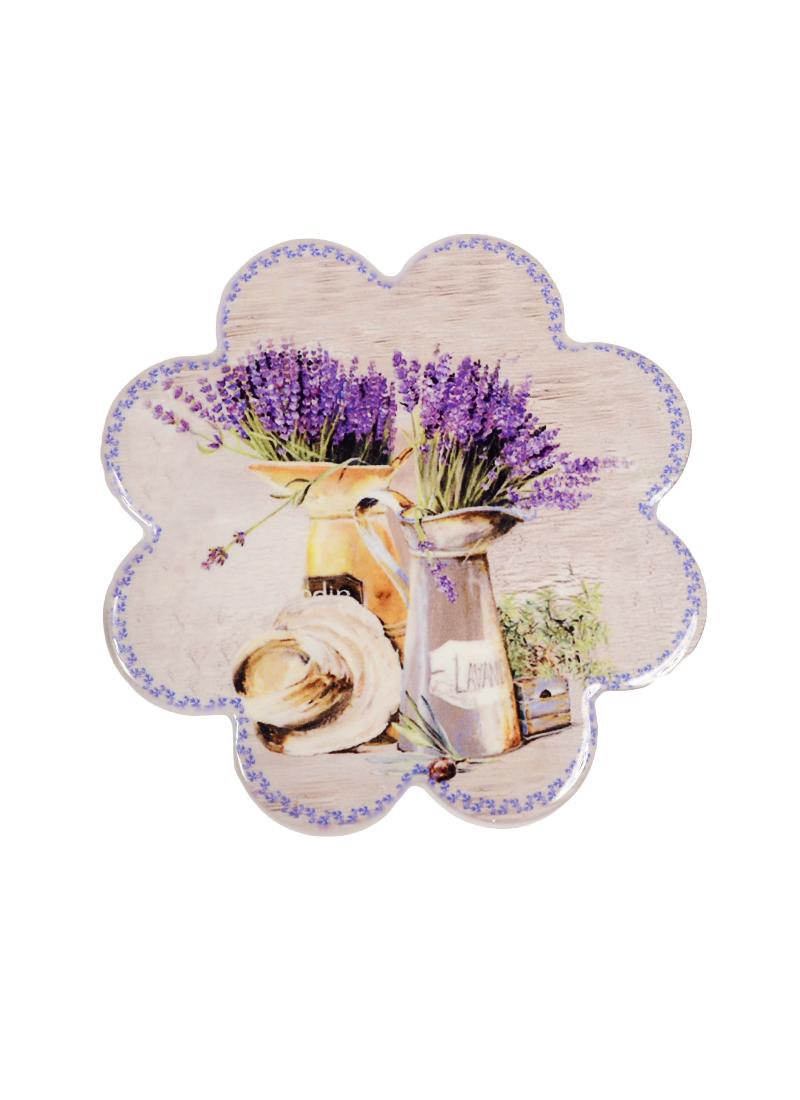 Подставка под кружку Лаванда с лейкой (в форме цветка) (11см)