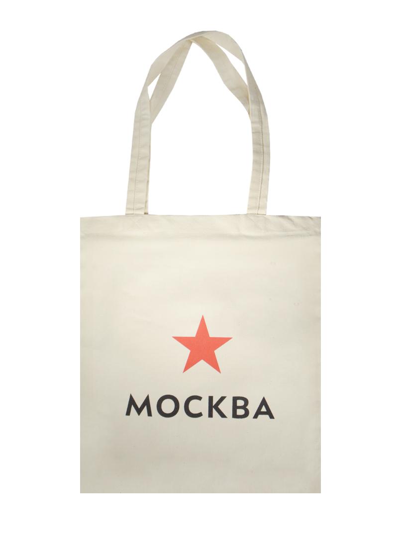 Сумка сувенирная (хлопок) (35х40) Москва Звезда