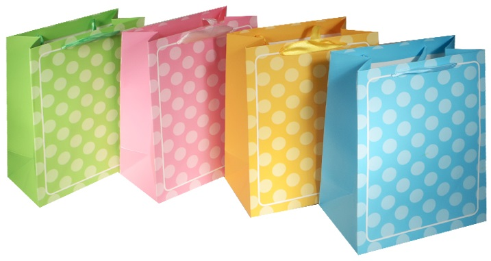 """Пакет подарочный бумажный """"Горох в пастельных тонах"""", А5"""
