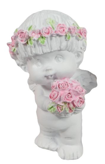 """Фигурка """"Ангел с розой"""", 8см"""