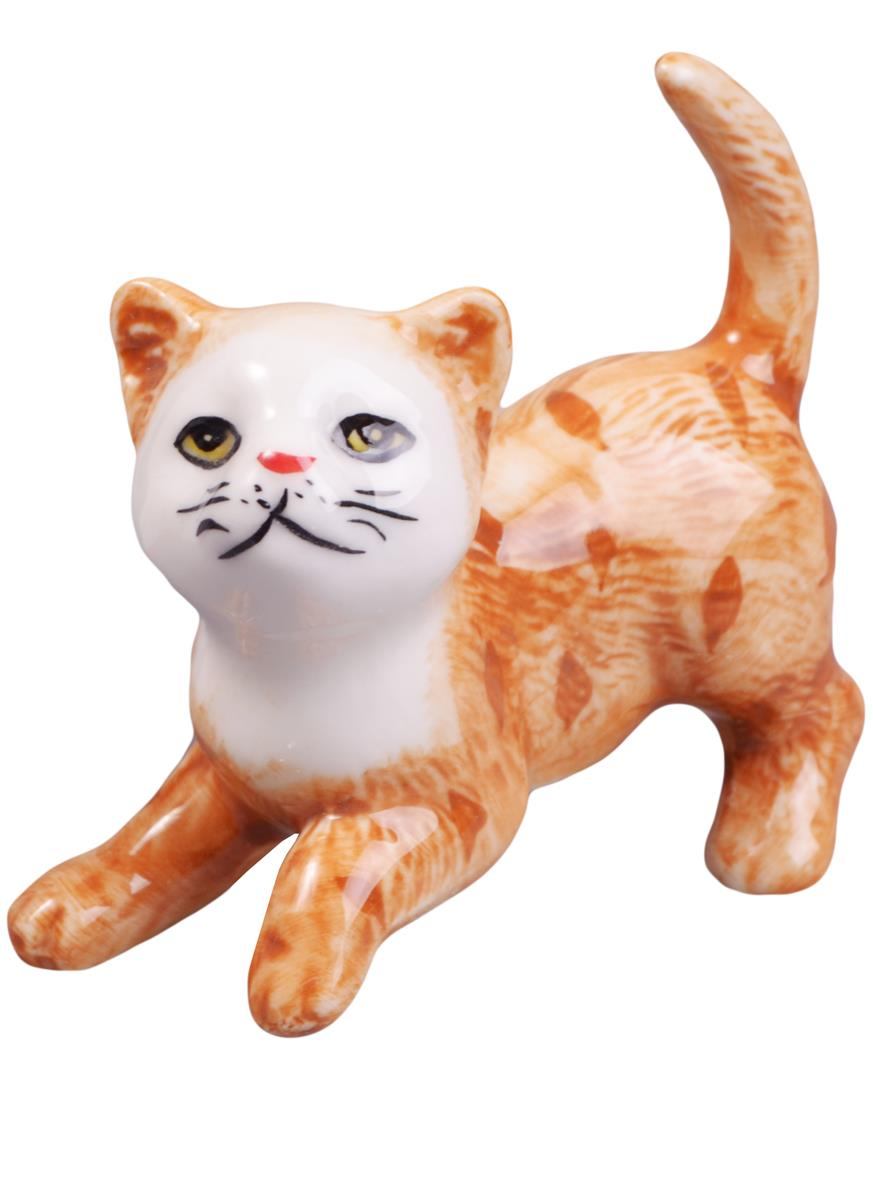 Фигурка Кошка (6см) (фарфор)