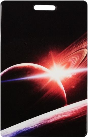 """Чехол для карточек """"Космос. Красная планета с кольцами"""""""