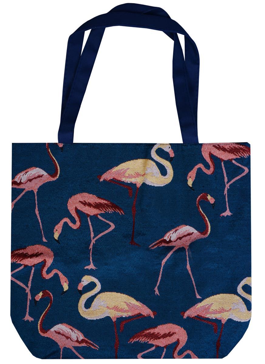 Сумка на молнии Фламинго (43х40) (текстиль)