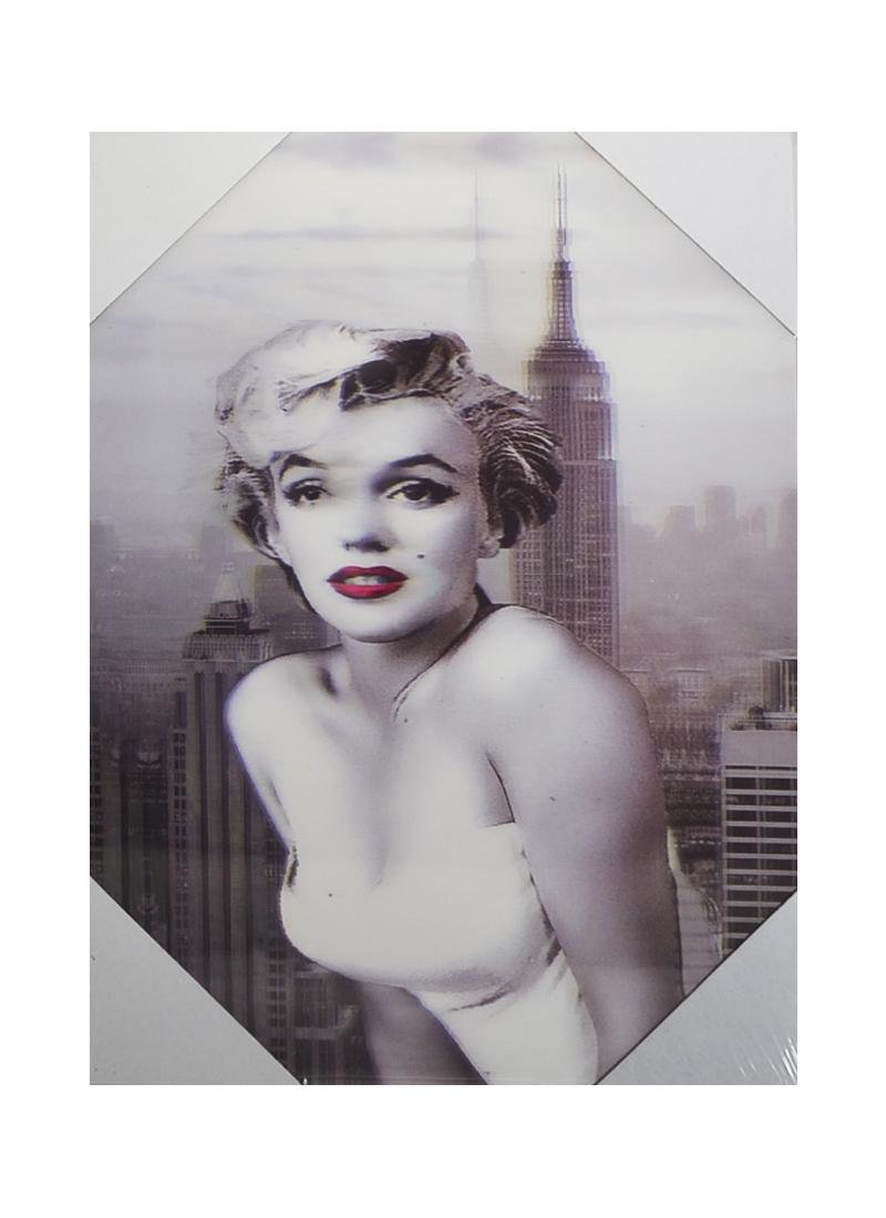 3D Постер Мэрилин Монро в белом платье (18х24) (00437)