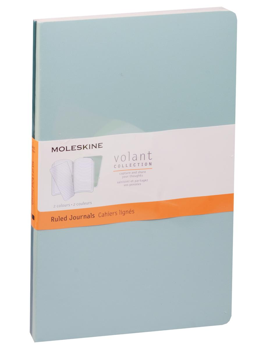 "Книга для записей А5 48л лин. ""Volant Large"" (2шт.) светло-зеленая/темно-зеленая, мягкая обложка, Moleskine"