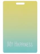 Чехол для карточек Цветной градиент My Happiness