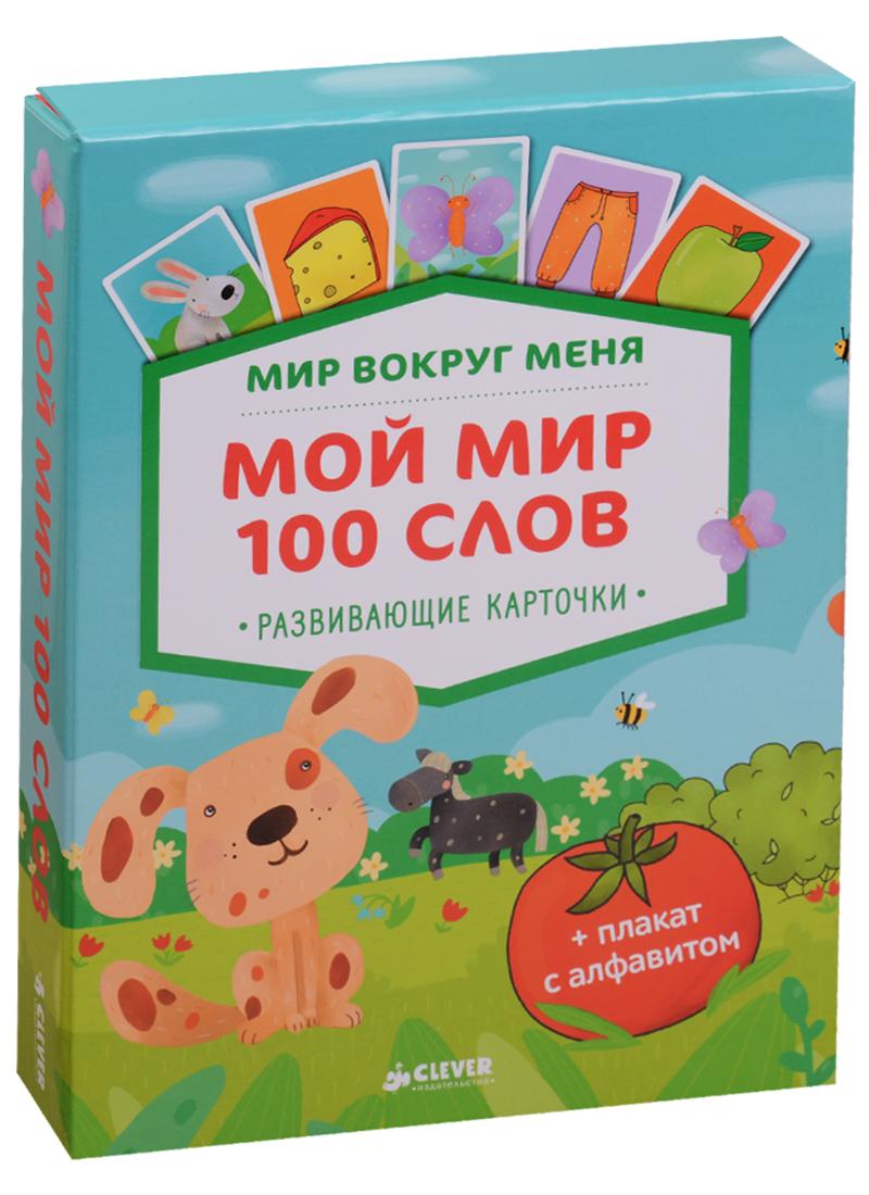 Измайлова Е. (ред.) Мир вокруг меня. Мой мир. 100 слов + плакат с алфавитом. 50 развивающих карточек ISBN: 9785906951502
