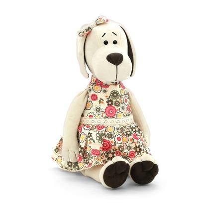 Мягкая игрушка Собачка Лапуська в летнем платье (30 см) (OS121/30)