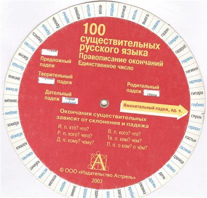 100 существительных русского языка