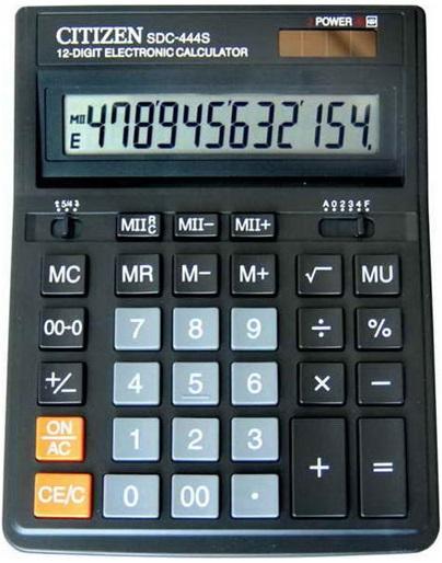 Калькулятор настольный CITIZEN SDC-444S