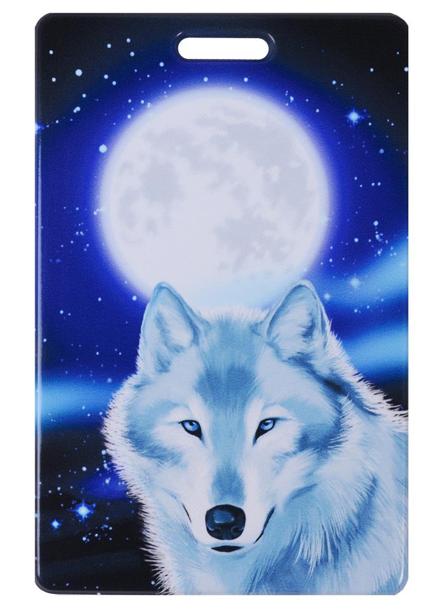 Чехол для карточек Волк с Луной