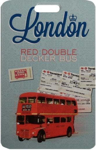 "Чехол для карточек ""London: Red double decker bus"""