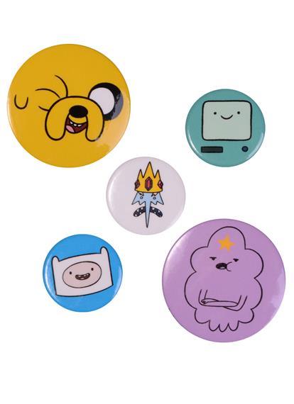 Adventure time Набор значков Сумасшедшая вселенная (5 шт.)
