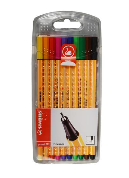 Ручки капиллярные 10цв STABILO point