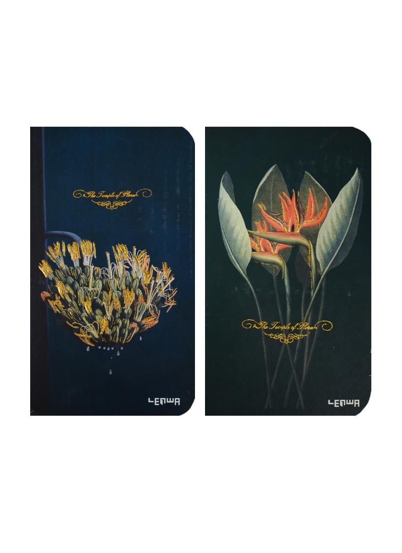 Блокнот Цветы (золотой обрез) (192стр) (9,4х17,2) (LYH50965-7515D)