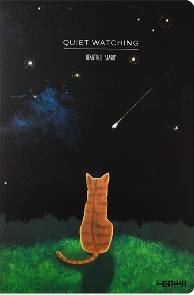 "Тетрадь ""Beatiful starry cat"", 48л"