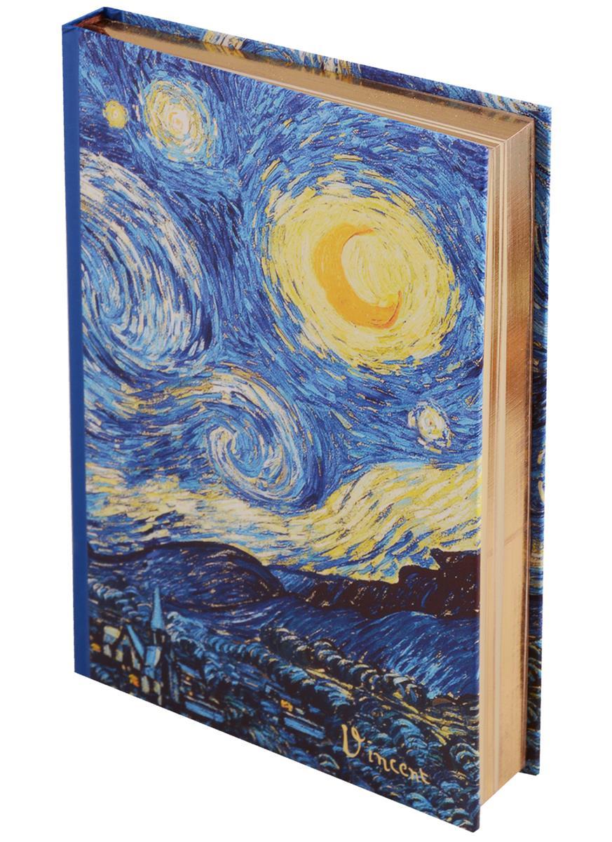 Блокнот Ван Гог Звездная ночь (золотой обрез)