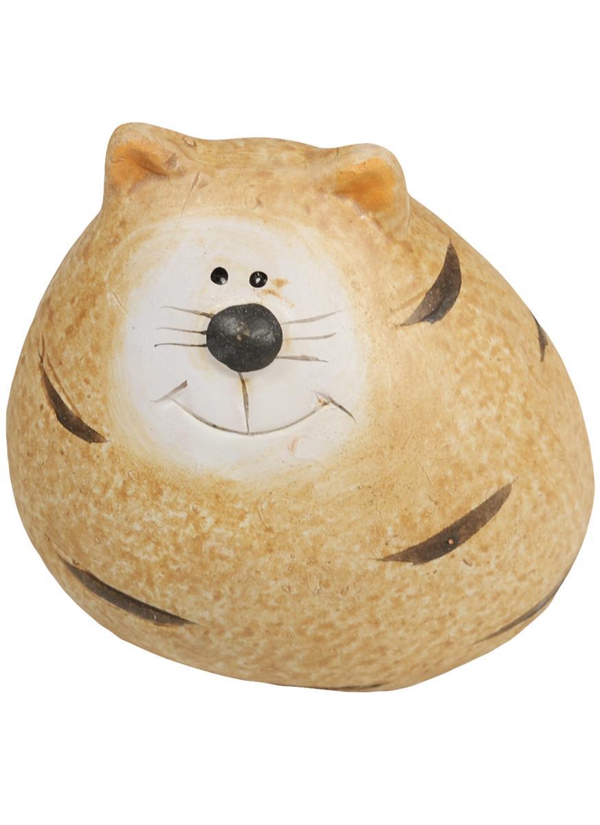 Фигурка керамическая Кот полосатый малый (6х6)