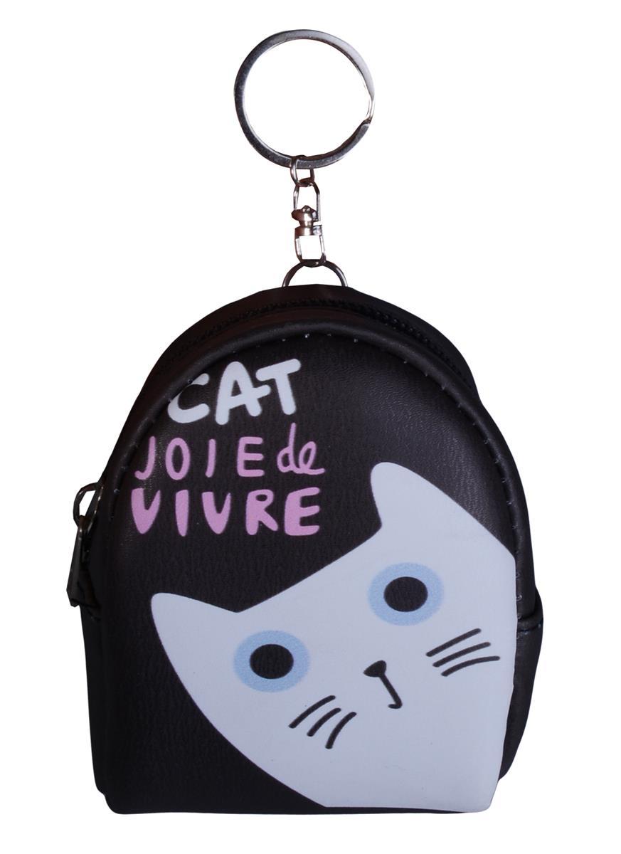 Сумочка-кошелек на молнии Cat (10см) (ПВХ бокс)