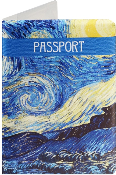 """Обложка для паспорта """"Винсент Ван Гог. Звездная ночь"""""""