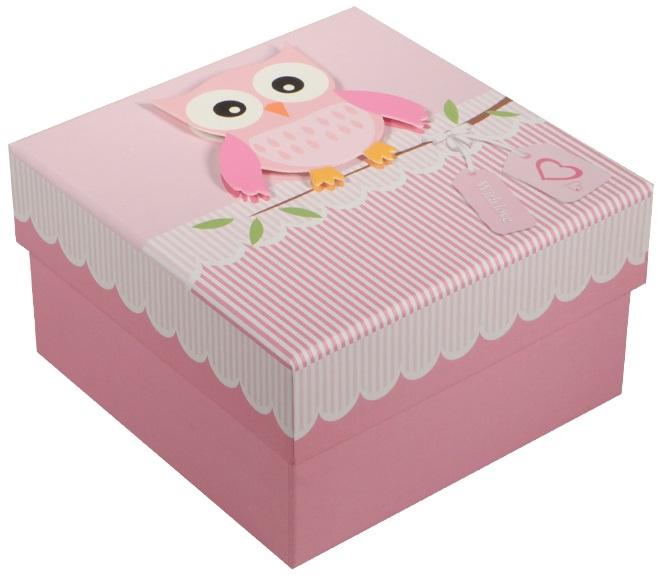 """Коробка подарочная """"Совы.Owls"""", 11*11*6,5см"""