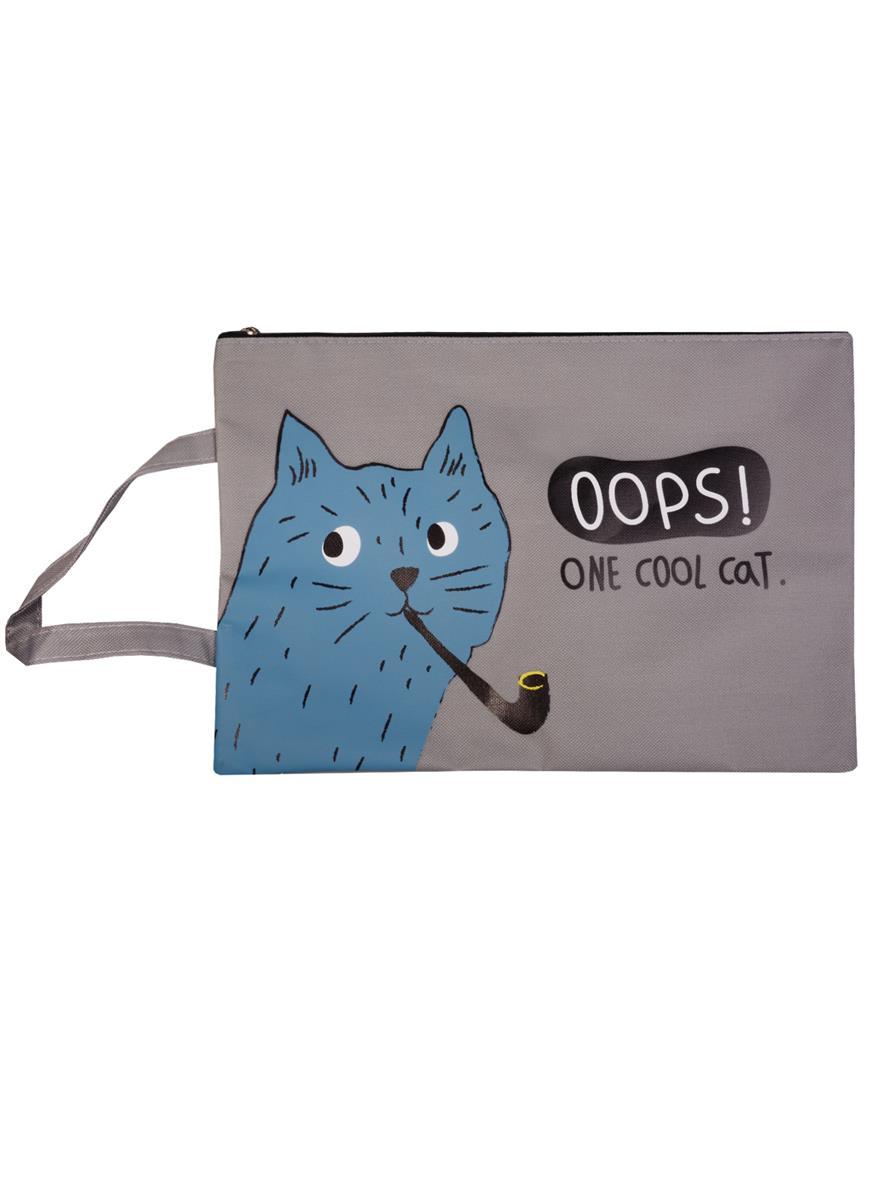 """Папка на молнии с ручкой """"Cool Cat"""""""