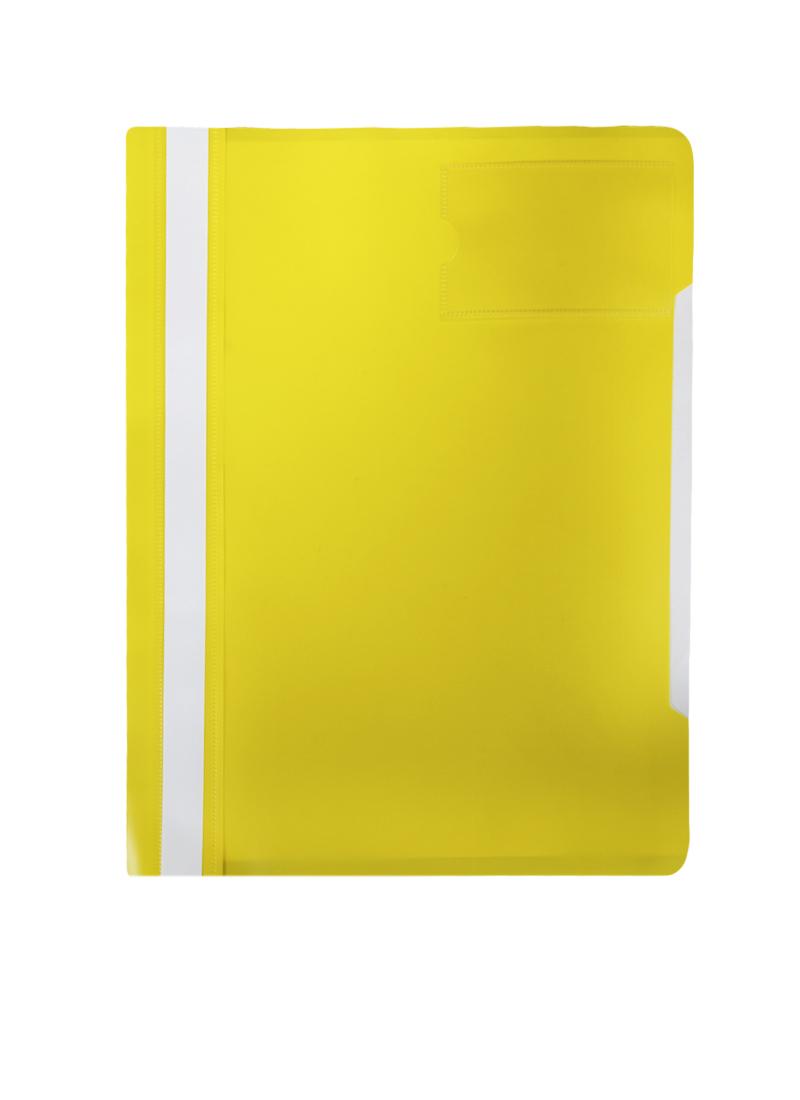Папка-скоросшиватель А4 карман для визитки, ассорти, пластик 0,12/0,16мм, Бюрократ