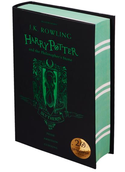 Rowling J.K. Harry Potter and the Philosopher's Stone - Slytherin EditionHardcover rowling j k harry potter and the philosopher s stone slytherin editionpaperback
